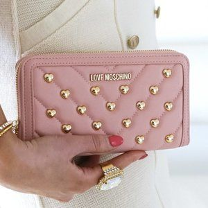 Love Moschino Studded Wallet